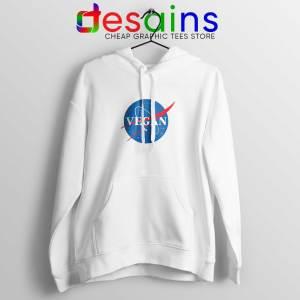 Vegan Nasa Logo White Hoodie Veganism Shirt Hoodies Adult Unisex