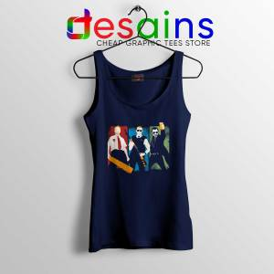 Blood and Ice Cream Navy Tank Top Three Flavours Cornetto Cheap Tank Tops