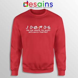 Buy Sweatshirt Red JOBROS The One Where The Band Gets Back Together