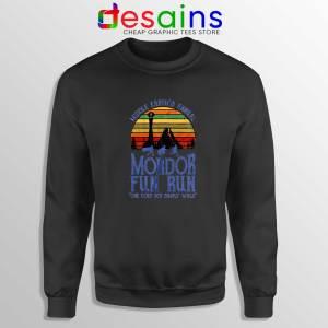 Mordor Fun Run Black Sweatshirt The Hobbit Middle Earth Sweater
