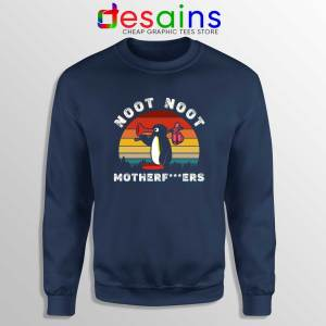 Noot Noot Pingu Navy Sweatshirt Cheap Sweater Pingu TV Series Meme