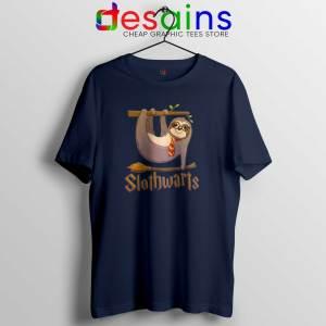 Slothwarts Sloth Hogwarts Navy Tshirt Cheap Tee Shirts Harry Potter Sloth