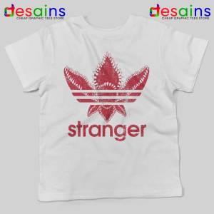 Stranger Things Monster White Kids Tshirts Stranger Things Adidas Tee Shirts