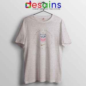 USWNT Champions 2019 Sport Grey Tshirt FIFA Womens World Cup Tee Shirts