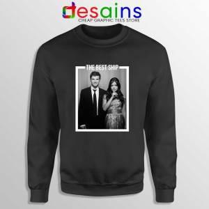 Ezria The Best Ship Black Sweatshirt Ian Harding and Lucy Hale Sweater