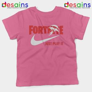Fortnite Just Play it Pink Kids Tshirt Fortnite Just Do it Youth Tee Shirts