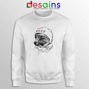 Laika Dog Space Traveler Sweatshirt Laika Dog Crewneck Sweater