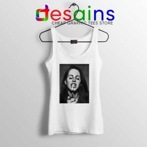 Lana Del Rey Smoking White Tank Top Cheap Tank Tops S-3XL Lana Poster