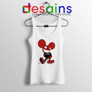 Mickey Mau5 White Tank Top Deadmau5 Mickey Mouse Tank Top GILDAN S-3XL