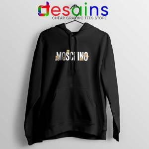 Moschino Teddy Bear Black Hoodie Moschino Hoodies GILDAN S-2XL