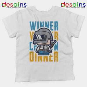 PUBG Winner Winner Chicken Dinner White Kids Tshirt Cheap Youth Tees