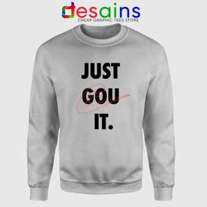 Peggy Gou Just Gou It Sport Grey Sweatshirt DJ Gou Just Do It Sweater