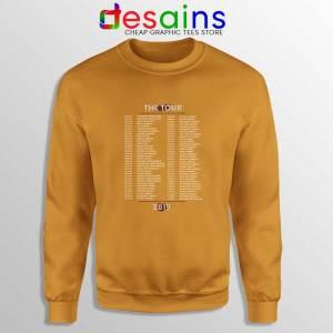 Shawn Mendes Merch The Tour Orange Sweatshirts Shawn Mendes Crewneck