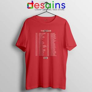Shawn Mendes Merch The Tour Red Tshirt Buy Shawn Mendes Tee Shirts