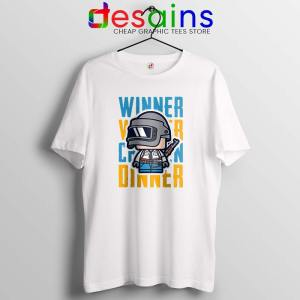 Winner Winner Chicken Dinner White Tshirt PUBG Tees Shirts Size S-3XL