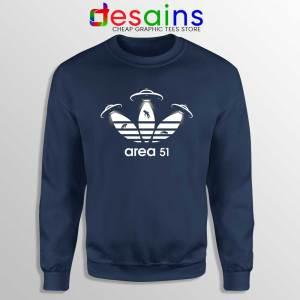 Area 51 Adidas Navy Sweatshirt Aliens Area 51 Sweater S-3XL