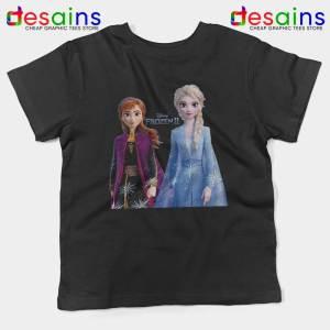 Elsa Anna Frozen 2 Black Kids Tshirt Disney Film Merch Youth Tee Shirts