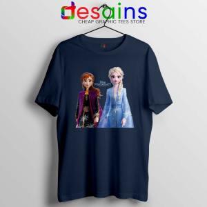 Elsa Anna Frozen 2 Navy Tshirt Disney Film Merch Tee Shirts