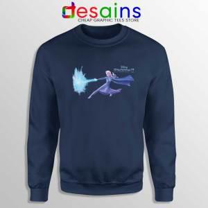 Elsa Frozen 2 Attack Navy Sweatshirt Disney Frozen Sweater S-3XL