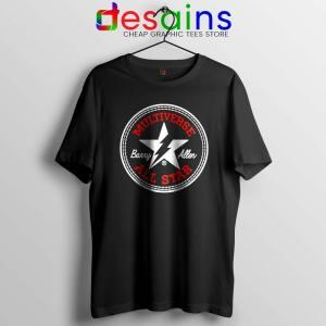Flash Barry Allen All Star Black Tshirt Converse Logo Tee Shirts S-3XL