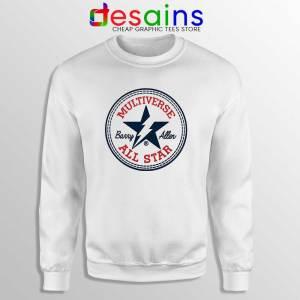 Flash Barry Allen All Star Sweatshirt Converse Logo Sweater S-3XL