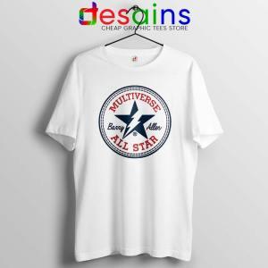 Flash Barry Allen All Star Tshirt Converse Logo Tee Shirts S-3XL