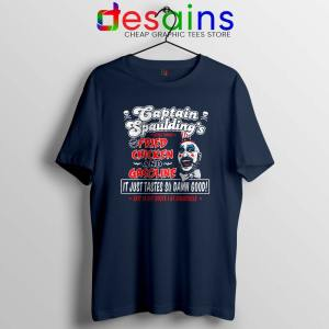 Fried Chicken and Gasoline Navy Tshirt Captain Spaulding Tee Shirts S-3XL