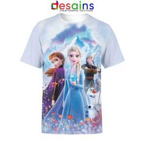 Frozen 2 Disney Tshirt Full Print Designs Tee Shirts S-3XL