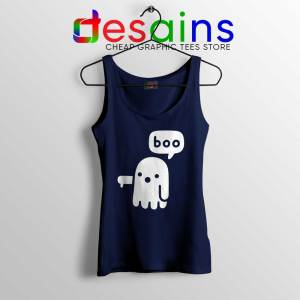 Ghost Boo Navy Tank Top Ghost Of Disapproval Tank Tops Halloween S-3XL