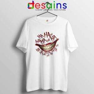 HAHAHA Joker Smile Tshirt Joker 2019 Film Tee Shirts S-3XL