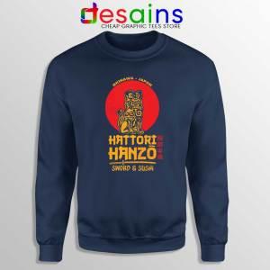 Hattori Hanzo Kill Bill Navy Sweatshirt Japanese Samurai Sweater S-3XL