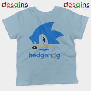 Hedgehog Sonic Light Blue Kids Tshirt Sonic the Hedgehog Youth Tees