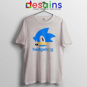 Hedgehog Sonic Sport Grey Tshirt Sonic the Hedgehog Tee Shirts S-3XL