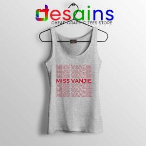 Miss Vanjie Drag Queen Sport Grey Tank Top Vanessa Vanjie Mateo Tops