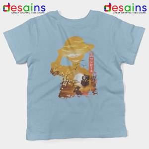 One Piece Manga Luffy Light Blue Kids Tshirt Posters One Piece Youth Tees