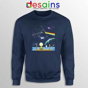 Pink Floyd Snoopy Navy Sweatshirt Dark Side Of The Moon Sweater S-3XL