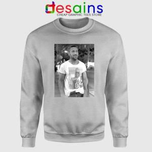 Ryan Gosling Wearing Macaulay Culkin Sport Grey Sweatshirt Celebrity