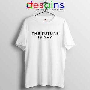 The Future Is Gay White Tshirt LGBT Pride Tee Shirts GILDAN USA
