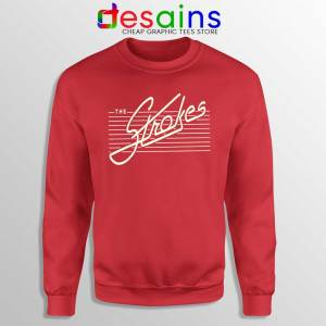 The Strokes Rock band Red Sweatshirt Music Bands Sweater Size S-3XL