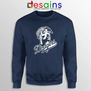 Tupac Los Angeles Dodgers Navy Sweatshirt Tupac Shakur Sweater S-3XL