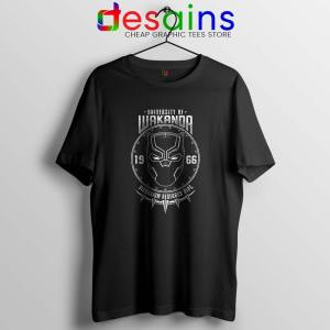 University Of Wakanda Tshirt Black Panther Tee Shirts S-3XL