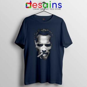 Arnold Schwarzenegger Terminator Navy Tshirt Arnold Tee Shirts S-3XL