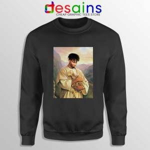 Jesus Playboi Carti Black Sweatshirt Playboi Christmas Sweater