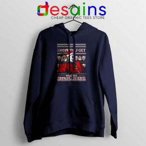 Joker Ugly Christmas Navy Hoodie I Hope You Get What You Deserve