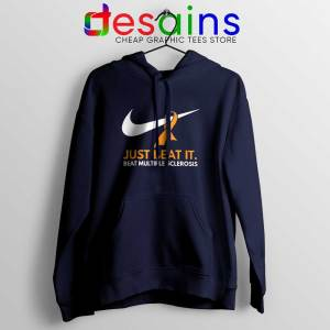 Just Beat it Navy Hoodie Beat Multiple Sclerosis Amen with Gods