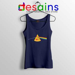 Pink Floyd Pizza Navy Tank Top Dark Side of the Pizza Tank Tops