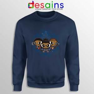 Powerpuff Girls Black Panther Navy Sweatshirt Pantherpuff Girls Sweater