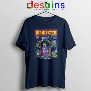 Pulp Fiction Freddie Mercury Navy Tshirt Break Fiction Tee Shirts S-3XL