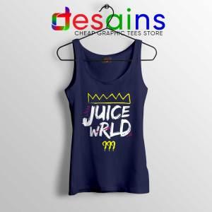Juice Wrld King 999 Navy Tank Top 999 Club Hip Hop Tops S-3XL