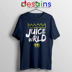 Juice Wrld King 999 Navy Tshirt 999 Club Hip Hop Tee Shirts